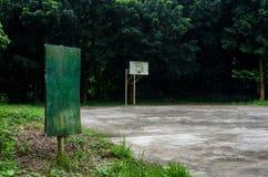 在篮球地面的牌 图库摄影