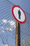 在篱芭的没有词条标志 库存照片