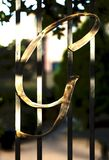 在篱芭门的G象征 免版税图库摄影