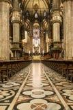 在米兰大教堂天花板的艺术  免版税库存照片