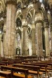 在米兰大教堂天花板的艺术  库存图片