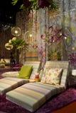 在米兰尼斯经的设计星期期间,米索尼家具集合 免版税库存照片