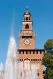 在米兰意大利- Castello Sforzesco的Sforza城堡 免版税图库摄影