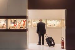在米兰,意大利供以人员参观的HOMI,家国际展示 免版税库存照片