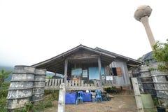 在米大阳台的小狗在Mae巴生Luang,清迈,泰国调遣 库存照片