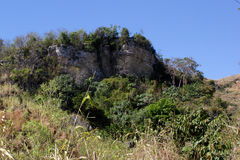 在米尔巴莱,海地附近的农田 免版税库存照片