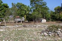 在米尔巴莱,海地附近的海地的家 库存图片