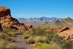 在米德湖附近的内华达沙漠 免版税图库摄影