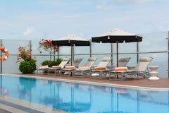 在米拉弗洛雷斯百乐酒店的水池 库存图片