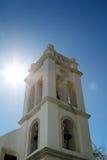 在米科诺斯岛,希腊的钟楼 免版税图库摄影