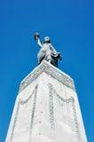 在米蒂利尼镇的自由女神像 免版税库存照片
