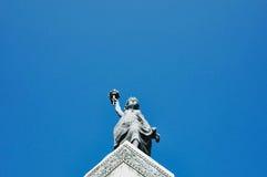 在米蒂利尼镇的自由女神像 库存图片