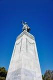 在米蒂利尼镇的自由女神像 免版税库存图片