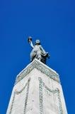 在米蒂利尼镇的自由女神像 图库摄影