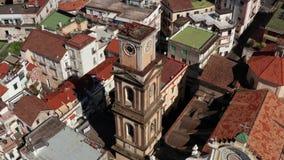 在米诺利老镇的看法在意大利 股票视频