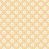 在米黄棕褐色和白色的传染媒介摘要装饰花卉无缝的样式 皇族释放例证