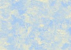 在米黄和蓝色口气的抽象背景 库存图片