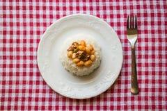 在米/库鲁Fasulye的被烘烤的豆 图库摄影