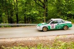 在米什科尔茨集会匈牙利的Subaru 免版税图库摄影