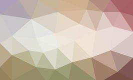 在米黄绿色和桃红色颜色,三角的淡色低多背景设计塑造了样式 库存照片