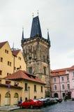 在粉末塔的看法在布拉格,捷克 库存照片