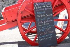 在粉笔板的五颜六色的菜单,爱尔兰 免版税库存图片