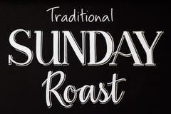 在粉笔板的传统星期天烘烤 免版税库存照片
