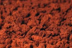 在粒子的速溶咖啡 免版税库存图片