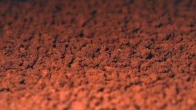 在粒子的速溶咖啡 免版税库存照片