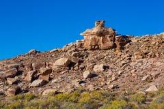 在精美曲拱,拱门国家公园,犹他,美国的岩层 免版税图库摄影