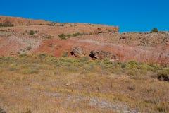在精美曲拱,拱门国家公园,犹他,美国的岩层 免版税库存照片