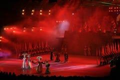 在精采中国主题乐园的阶段表现 免版税图库摄影