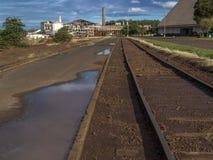 在糖和对氨基苯甲酸二产业的铁路 库存图片