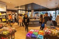 在糖果商店里面 图库摄影
