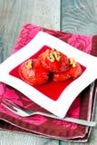 在糖浆,土耳其点心的柑橘 库存图片