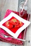在糖浆,土耳其点心的柑橘 库存照片