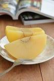 在糖浆Sakay Chuem Sakay Chuem泰国点心的面包树果制地图 库存照片