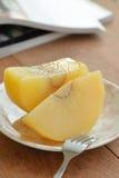 在糖浆Sakay Chuem Sakay Chuem泰国点心的面包树果制地图 免版税库存图片