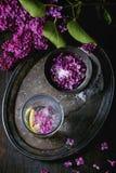 在糖的淡紫色花 库存图片