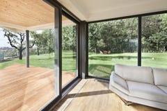 在系列房子新的内部的露天场所  免版税库存照片