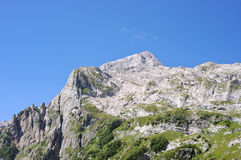 在索契附近的山峰Fisht 免版税库存图片