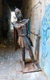 在索维拉麦地那电烙中世纪骑士的人 摩洛哥 免版税库存图片