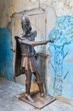 在索维拉麦地那电烙中世纪骑士的人 摩洛哥 免版税库存照片