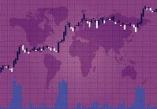在紫罗兰的烛台储蓄图 向量例证