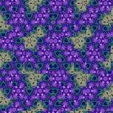 在紫罗兰色和蓝色的明亮的镶嵌构造 向量例证