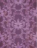 在紫罗兰色颜色的传染媒介巴洛克式的富有的样式 复杂设计装饰品 免版税库存照片