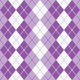 在紫色和白色的该死的Argyle 库存照片