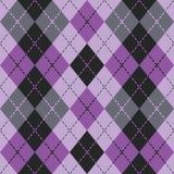 在紫色和黑色的该死的Argyle 库存照片