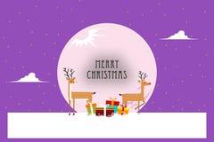 在紫色圣诞节的降雪 库存例证