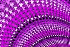 在紫色色彩的分数维紫罗兰色螺旋设计 向量例证